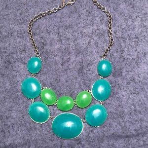 NY&C Green Statement Necklace